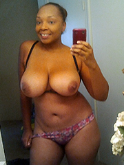 Ebony girlfriends shows her big melons..