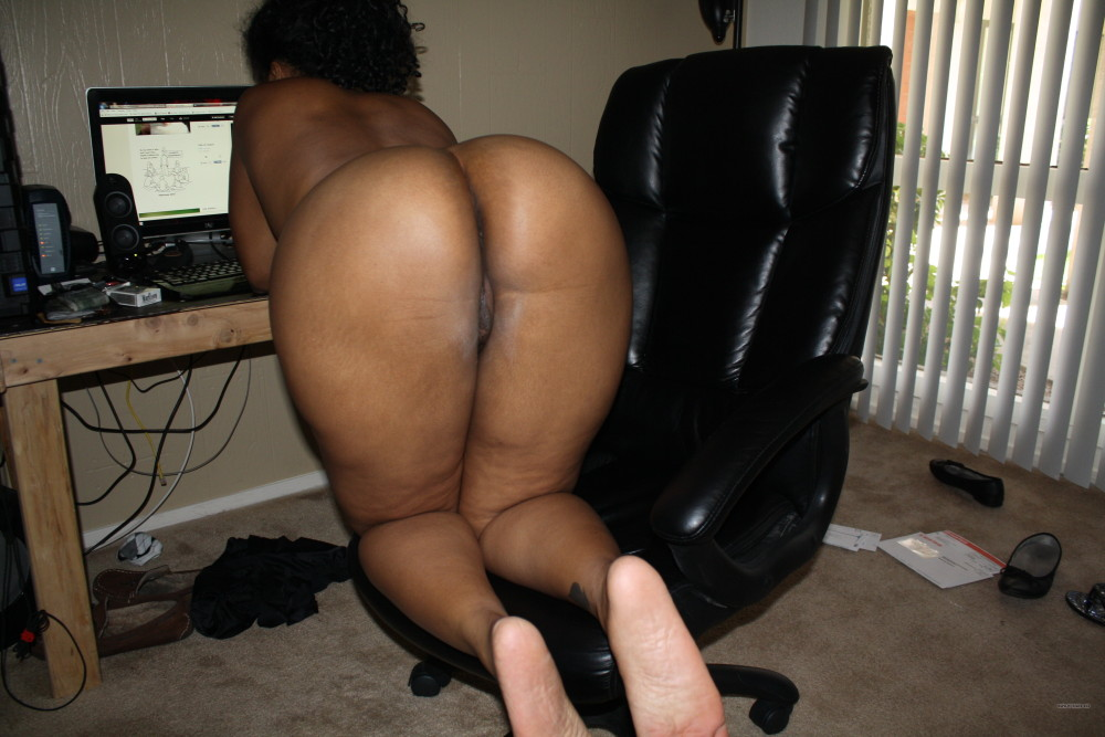 woman over Black ass bent