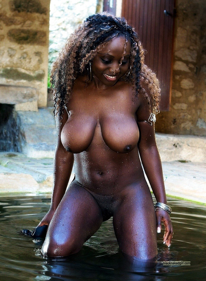 tits natural super Black big